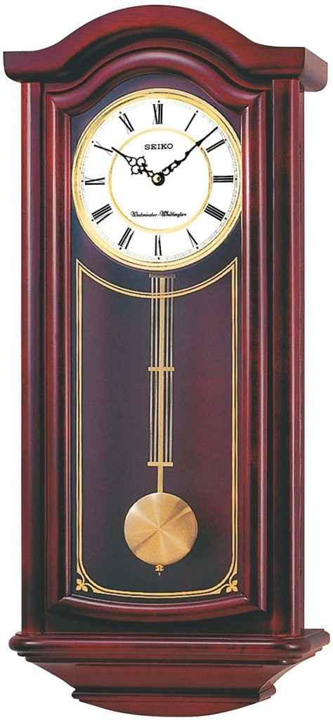 Seiko Mahogany Wall Clock with Pendulum