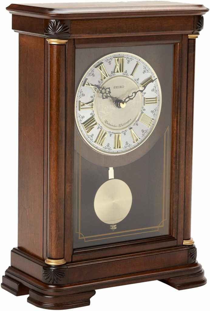 4. Seiko Traditional Elegance Mantel Clock