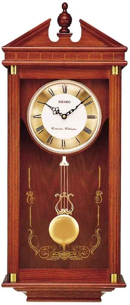 8. Seiko Regal Oak Wall Clock with Pendulum  to better elaborate on Pendulum Clocks