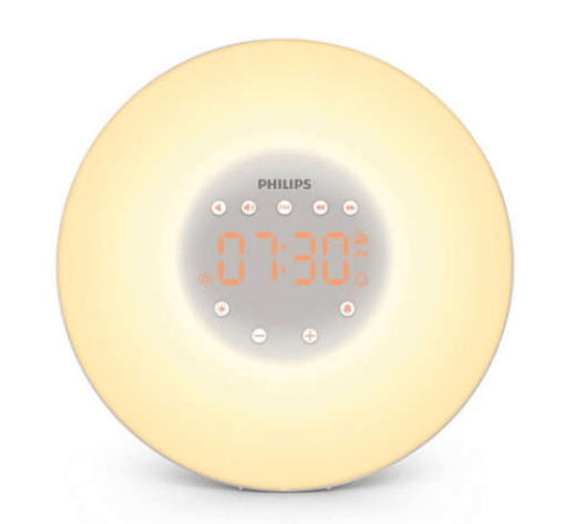 "A picture of philip's wake up light to better answer the question:""How do digital clocks work?"""