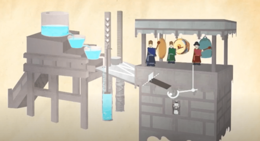 """A picture of a water clock to better answer """"What is a water clock And how does it work?"""""""