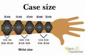Image result for watch sizes